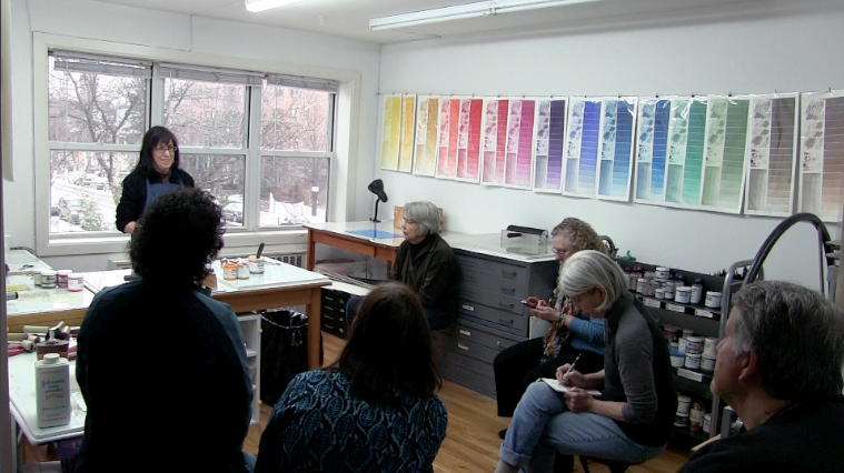 Monotype workshop with Susan Rostow at Brooklyn Studio